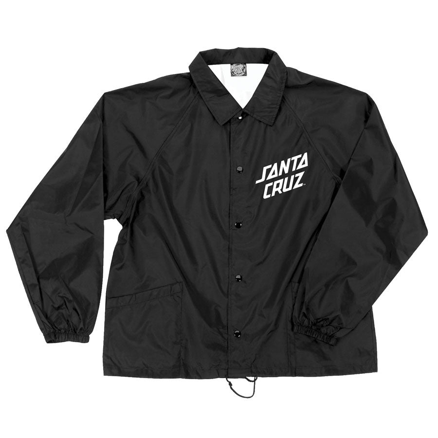 Santa Cruz Strip Coach Windbreaker Lined - Black - Men's Jacket
