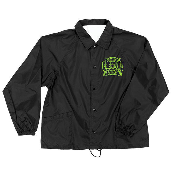Creature Grave Diggers Coach Windbreaker - Black - Men's Jacket