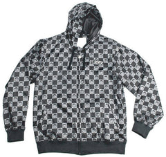 Neff Checkerface - Black / Grey - Men's Jacket