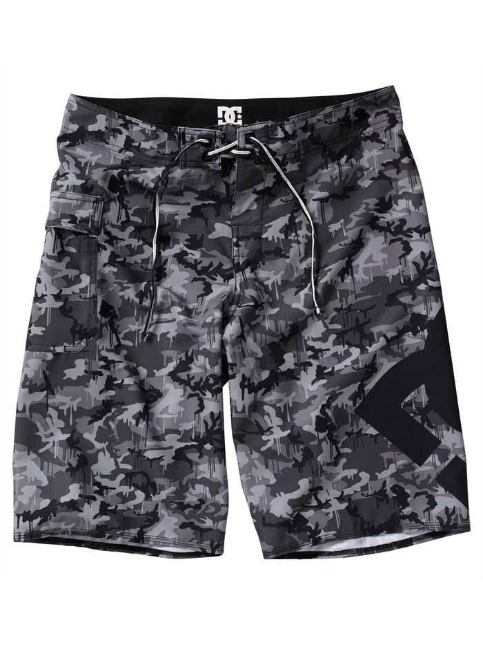 DC Lanai Essential 4  Boardshorts - Black Camo - Men's Shorts