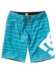 DC Lanai Essential 4  Boardshorts - Blue Teal Stripe - Men's Shorts