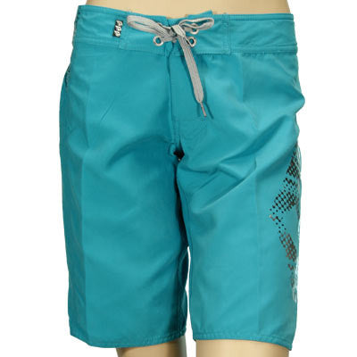 "Volcom Ladies Boardshorts Stone Filter 11"" Teal - Women's Bathing Suit - Size 1"