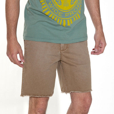 Obey Trademark Chino Cut-Offs - Khaki - Men's Shorts