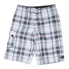 O'Neill Santa Cruz Plaid 2 - White - Mens Boardshorts