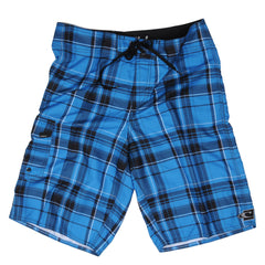 O'Neill Santa Cruz Plaid 2 - Blue - Mens Boardshorts