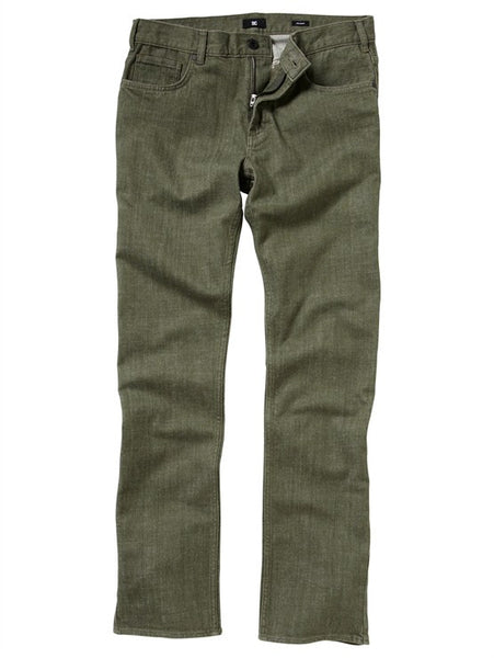 DC Straight Fit Yarndye Jeans - Pinecone - Men's Pants