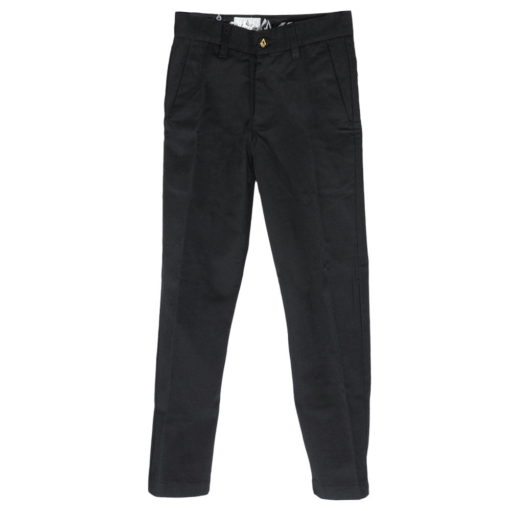 Volcom Frickin Chino - Black - Youth Pants