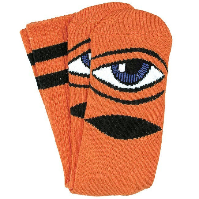 Toy Machine Sect Eye III - Orange - Men's Socks (1 Pair)