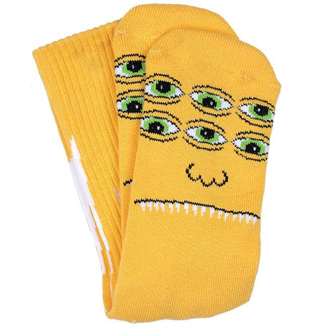 Toy Machine Transmissionator Face - Yellow - Men's Socks (1 Pair)