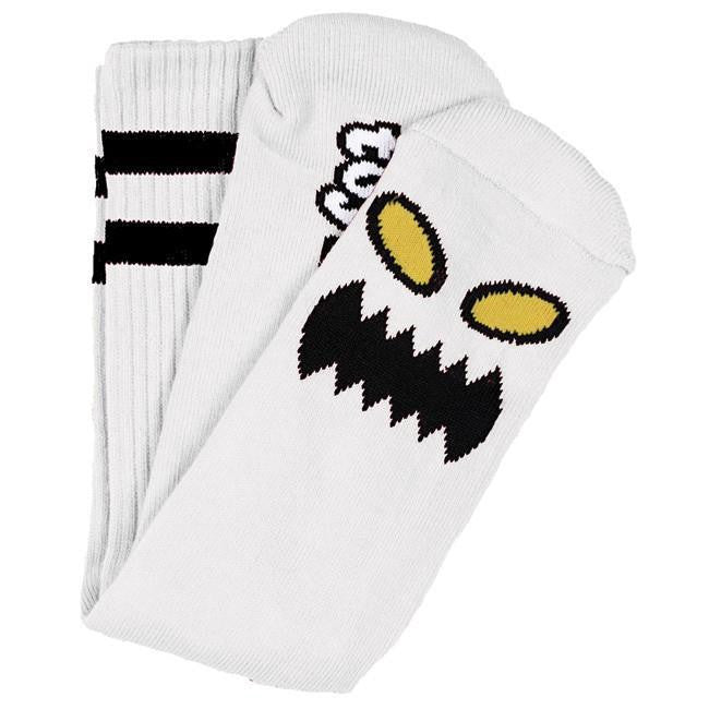 Toy Machine Monster Face - White - Men's Socks (1 Pair)