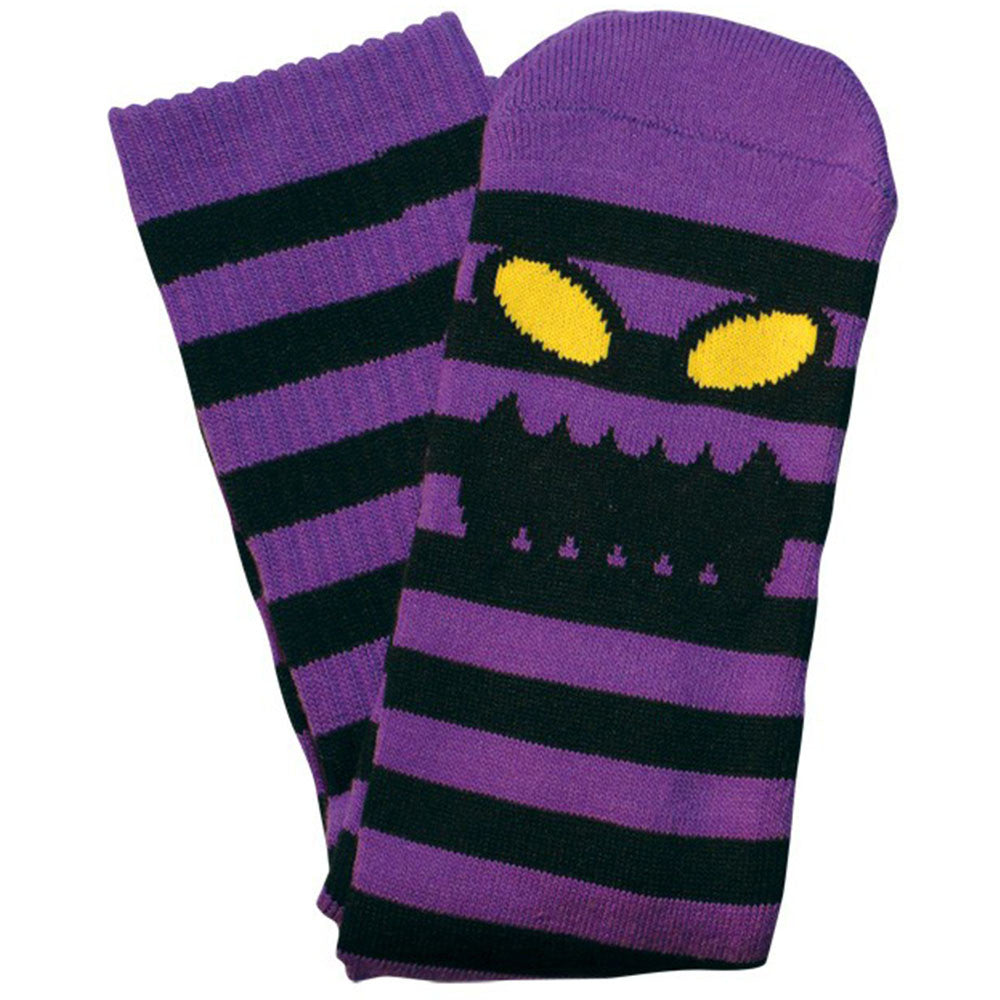 Toy Machine Monster Stripe - Black/Purple - Men's Socks (1 Pair)