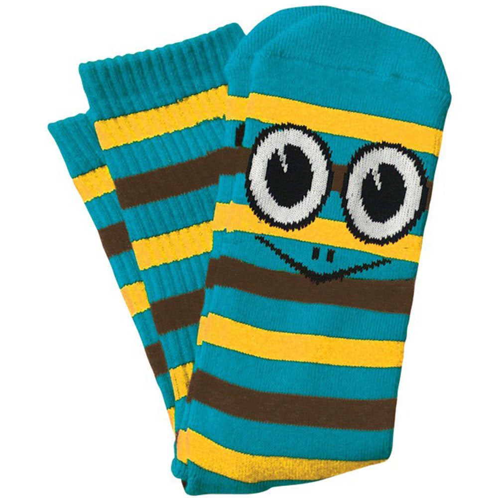 Toy Machine Turtle Stripe - Blue/Yellow - Men's Socks (1 Pair)