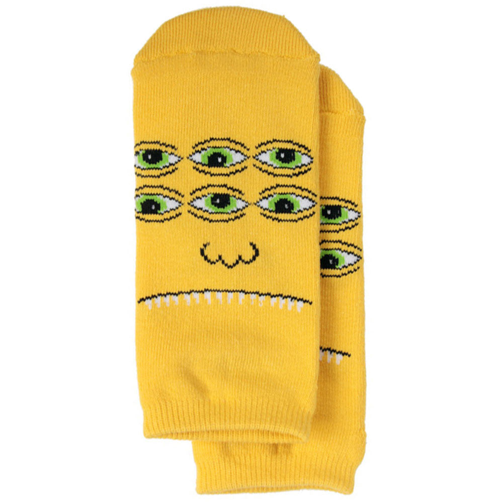 Toy Machine Transmissionator Face Ankle - Yellow - Men's Socks (1 Pair)
