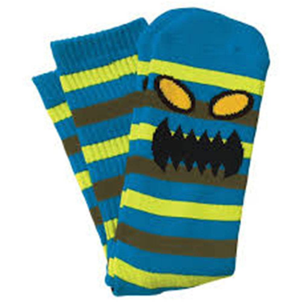 Toy Machine Monster Stripe - Blue/Neon - Men's Socks (1 Pair)