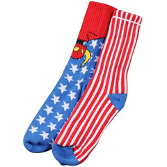 Toy Machine American Monster - Red/White/Blue - Men's Socks (1 Pair)