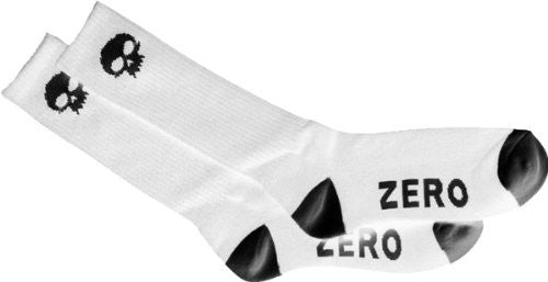 Zero Skull Knee Hi Socks - White/Black - Mens Socks (1 Pair)