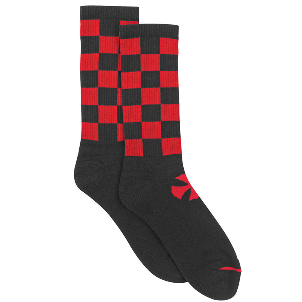 Independent Finish Line Crew - Black/Red - Men's Socks (2 Pairs)