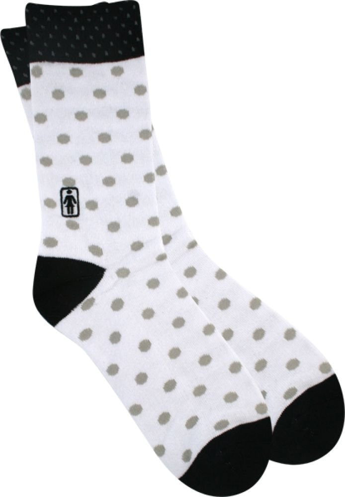 Girl Double Dots - White - Men's Socks (1 Pair)