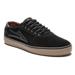 Lakai Manchester Lean - Black/Gum Suede - Men's Skateboard Shoes