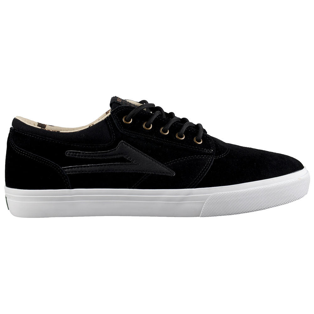 Lakai Griffin SMU - Black/White Suede - Men's Skateboard Shoes