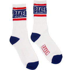 Baker Champion - White/Blue - Men's Socks (1 Pair)