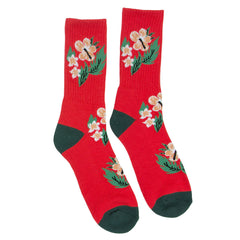 Baker Floral - Red - Men's Socks (1 Pair)