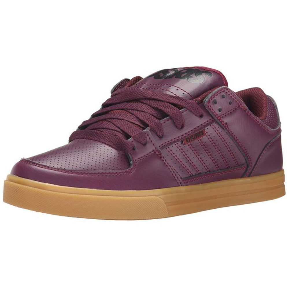 Osiris Protocol - Burgundy/Black/Gum - Men's Skateboard Shoes