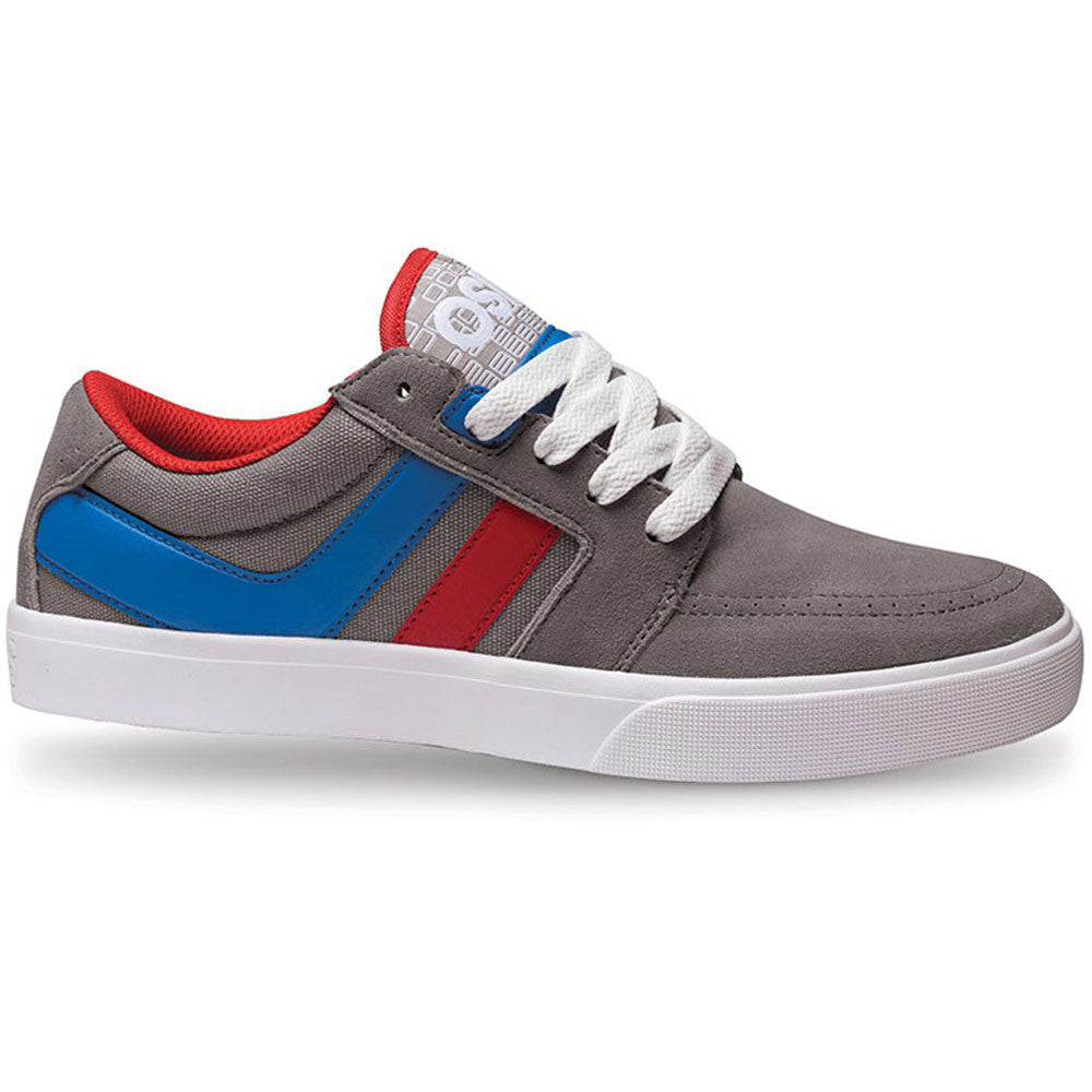 Osiris Lumin - Grey/Red/Blue - Men's Skateboard Shoes