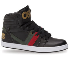 Osiris Cthi - Black/Red/Green - Men's Skateboard Shoes