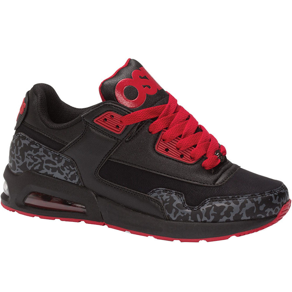 Osiris Uprise - Black/Grey/Red - Men's Skateboard Shoes