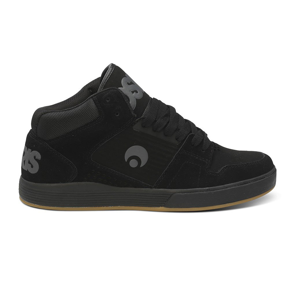 Osiris Sleak Mid Tech - Black/Charcoal/Gum - Men's Skateboard Shoes