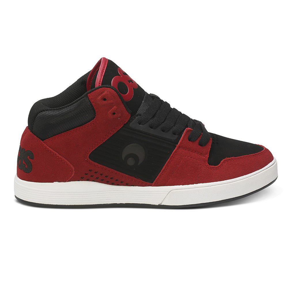 Osiris Sleak Mid Tech - Red/Black/White - Men's Skateboard Shoes