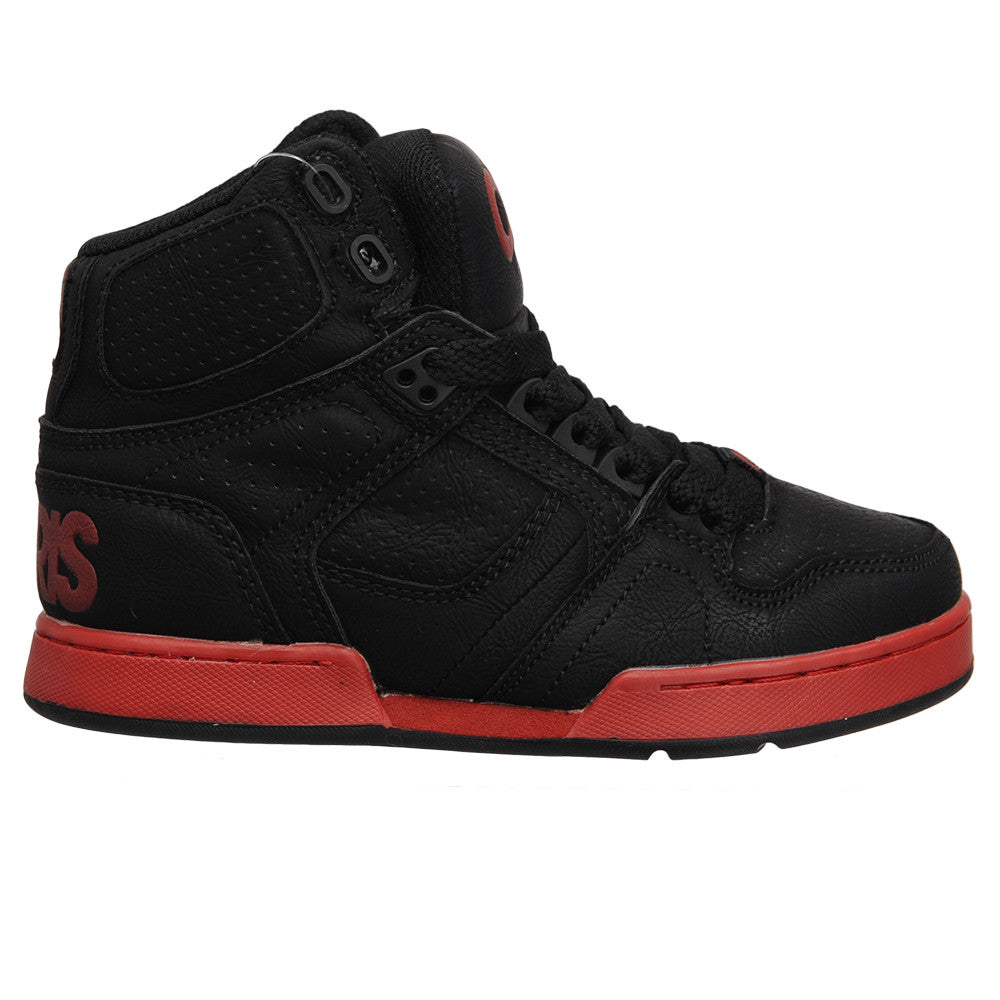 Osiris NYC 83 - Black/Red - Boy's Skateboard Shoes