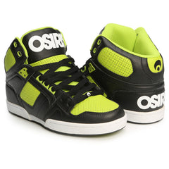 Osiris NYC 83 - Black/White/Lime - Men's Skateboard Shoes