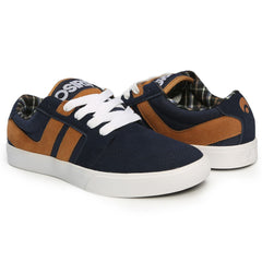 Osiris Lumin - Navy/Brown/White - Men's Skateboard Shoes