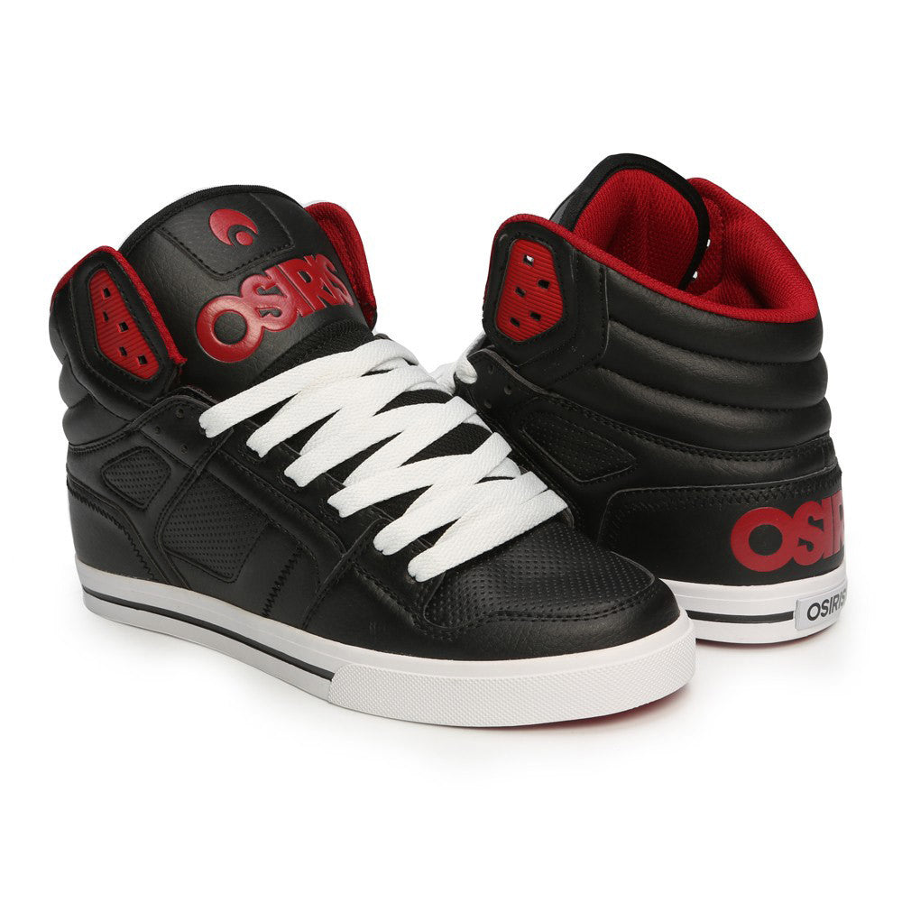 Osiris Clone - Black/Red/Red - Men's Skateboard Shoes