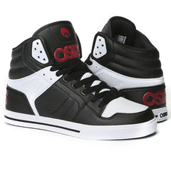 Osiris Clone - Black/Red/White - Men's Skateboard Shoes