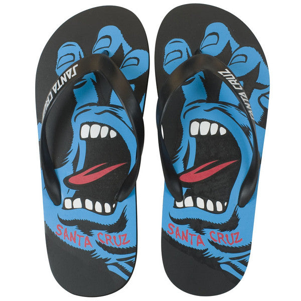 Santa Cruz Screaming Hand Flip Flops - Black - Men's Sandals