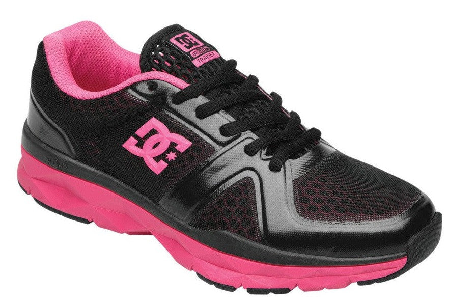 DC Unilite Trainer - Black/Fluorescent Pink - Women's Shoes