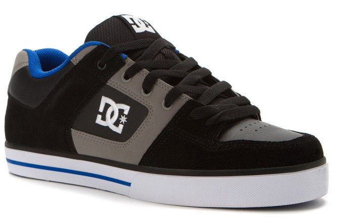 DC Pure - Black/Wild Dove - Men's Skateboard Shoes