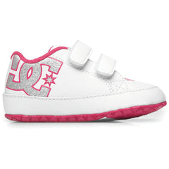 DC Court Graffik - White/Pink WPN - Baby's Skateboard Shoes