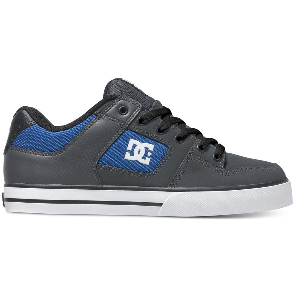 DC Pure - Grey/Royal GRG - Men's Skateboard Shoes