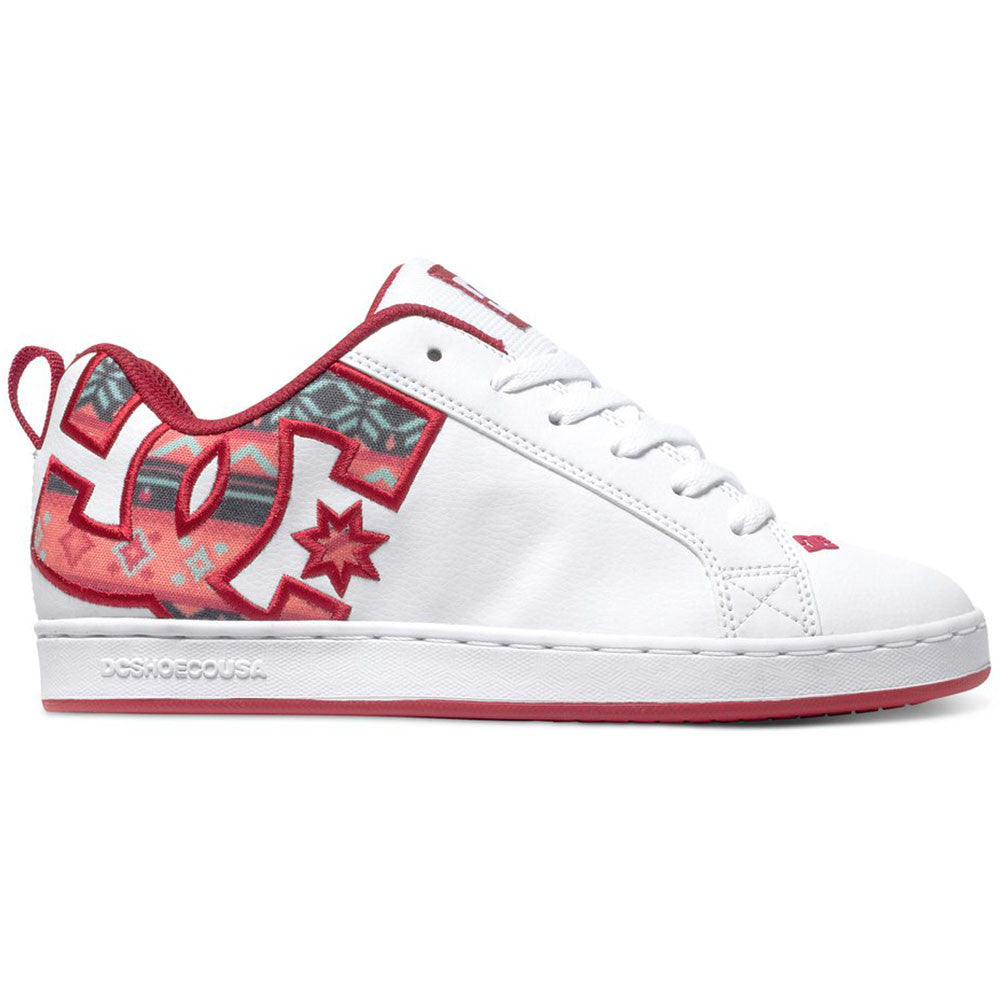 DC Court Graffik S - White/Green Plaid TGP - Women's Skateboard Shoes
