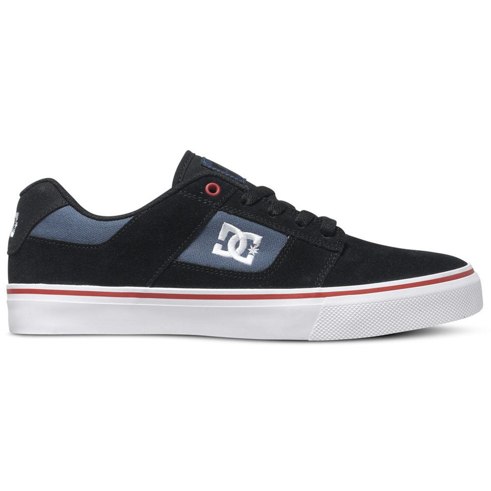 DC Bridge - Black/Black/Red XKKR - Men's Skateboard Shoes