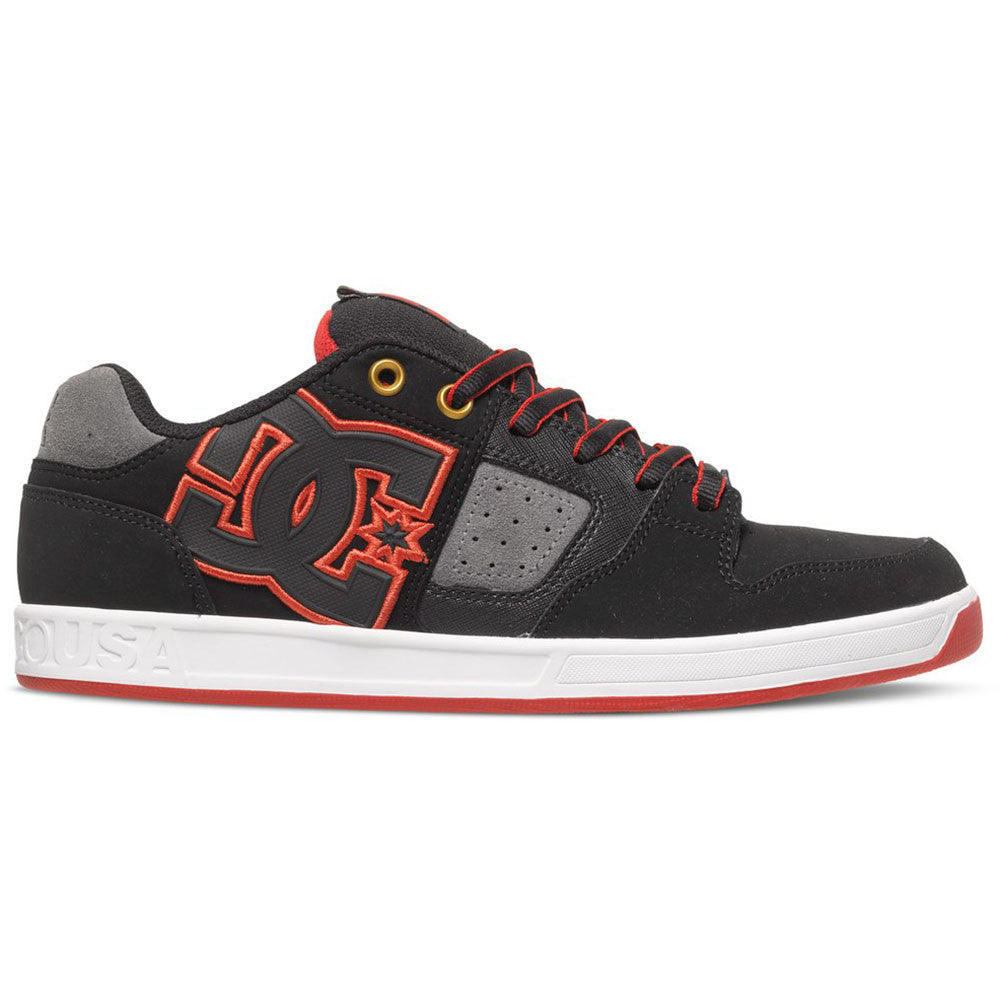 DC Sceptor - Black/Grey/Red XKSR - Men's Skateboard Shoes