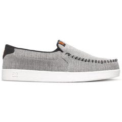 DC Villain TX SE Slip-On - Grey/Black/Orange XSKN - Men's Skateboard Shoes