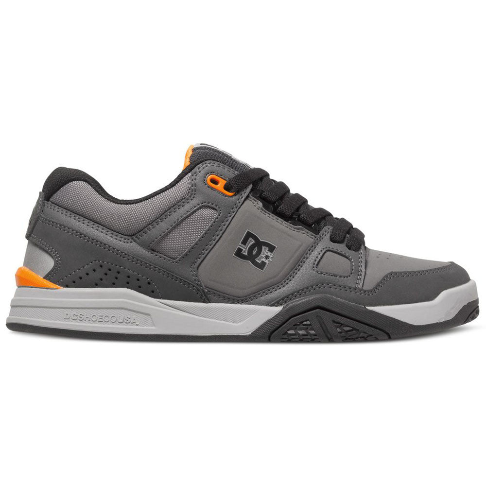 DC Stag 2 - Grey/Grey/Orange XSSN - Men's Skateboard Shoes