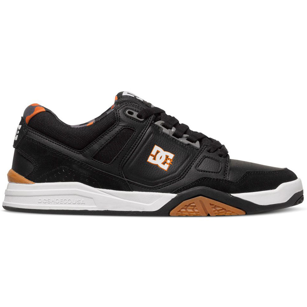 DC Stag 2 - Black/Black/Orange XKKN - Men's Skateboard Shoes