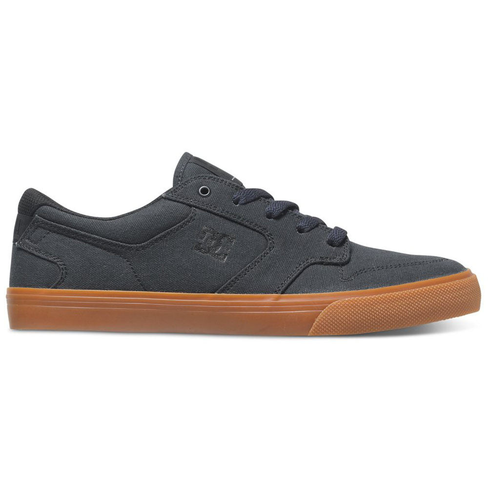 DC Nyjah Vulc TX - Grey/Gum 2GG - Men's Skateboard Shoes