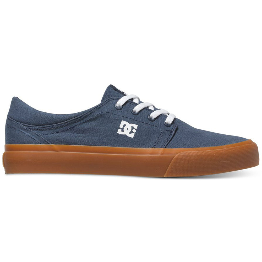 DC Trase TX - Dark Denim/Gum 4DG - Men's Skateboard Shoes